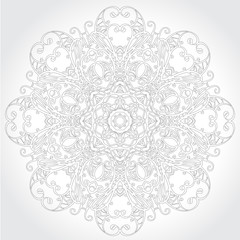Ornamental round lace floral pattern
