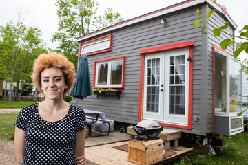 Funky girl shows off her DIY Tiny Home