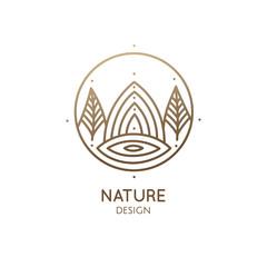 Round logo landscape