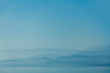 Idylic west Crete mountains landscape near a sea in summertime season, Greece