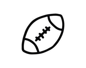 american football icon hand drawn design illustration,designed for web and app