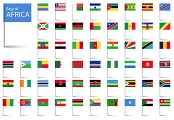 all country flags of Africa