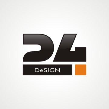 24 Logo / number twenty four logo concept
