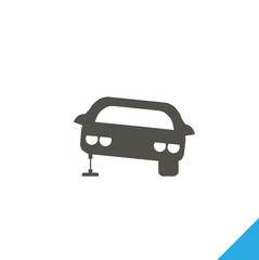 car repair icon. car stands on the jack