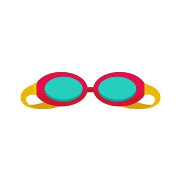 Swim glasses icon. Flat illustration of swim glasses vector icon for web isolated on white