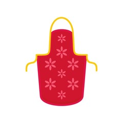 Flower apron icon. Flat illustration of flower apron vector icon for web isolated on white