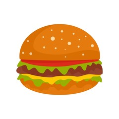 Burger icon. Flat illustration of burger vector icon for web isolated on white