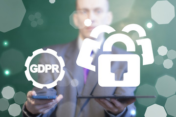 General Data Protection Regulation. GDPR. Cyber security and privacy mobile devices.