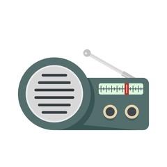 Speaker radio icon. Flat illustration of speaker radio vector icon for web isolated on white