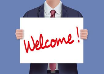 bienvenue - accueil - welcome - accueillir - entreprise - présentation - souhaiter - présenter