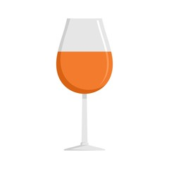Glass of cognac icon. Flat illustration of glass of cognac vector icon for web isolated on white