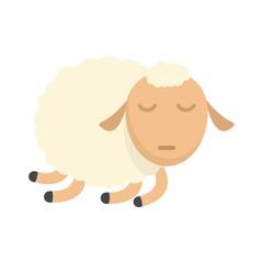 Sleeping sheep icon. Flat illustration of sleeping sheep vector icon for web isolated on white