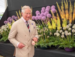 Britain's Prince Charles visits the Sandringham Flower Show at Sandringham House, Norfolk