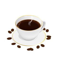 isometric espresso coffee cup vector