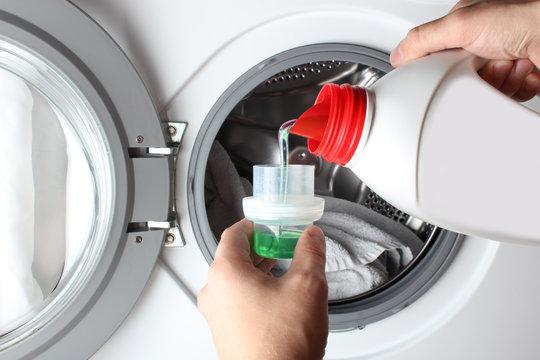 liquid detergent bottle pour washing machine