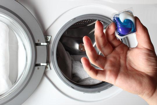 detergent capsule washing machine hand