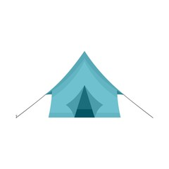 Camp tent icon. Flat illustration of camp tent vector icon for web isolated on white