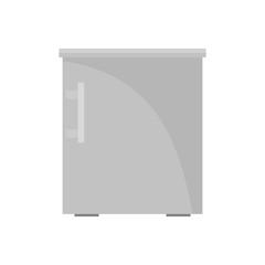 Small fridge icon. Flat illustration of small fridge vector icon for web isolated on white