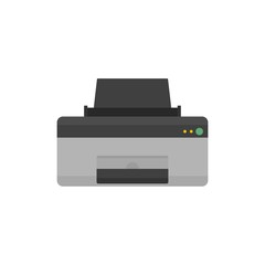 Home printer icon. Flat illustration of home printer vector icon for web isolated on white