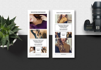 Card-Style Photography Flyer Layout with Black Borders