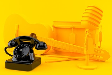 Music background with telephone