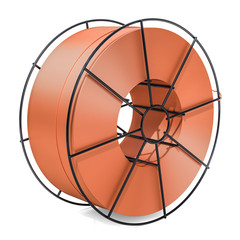 Copper Soldering, Welding Wire Spool. 3D rendering