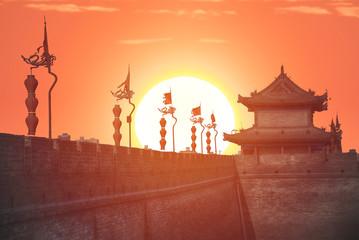 Xian city wall.