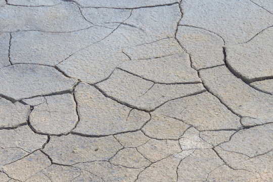 Cracked mud surface at Hverir, Iceland