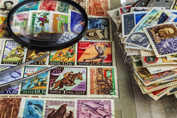 Postage stamps old album