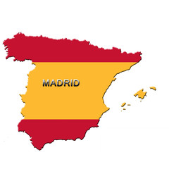 Carte d' Espagne