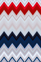 Chevron zigzag pattern abstract art background Color USA flag