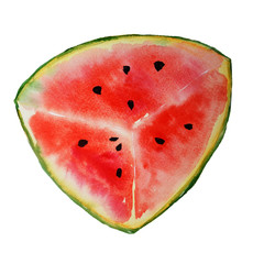 Watercolor watermelons on a white background.