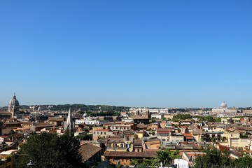 Above the rooftops of Rome, Italy