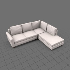 Indoor sectional sofa