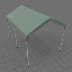 Long popup tent