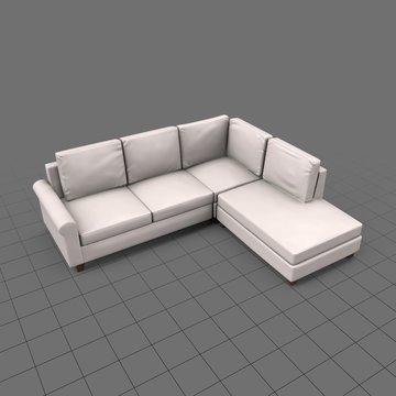 Indoor sectional sofa