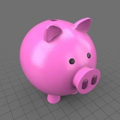 Round piggy bank