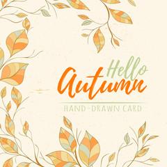 Autumn hand drawn vector illustration