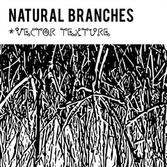 Natural branches vector textured background and eco grunge items for the creation of design banners, music cover, wallpapers,  flyers, websites with grunge bio ideas.