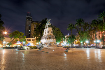 Fotomurales - Plaza San Martin at night - Cordoba, Argentina