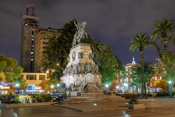 Fotomurales - Plaza San Martin and San Martin Monument at night - Cordoba, Argentina