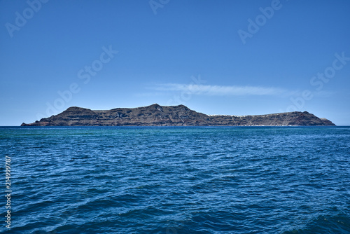 Greece  Santorini  The island of Nea Kameni  Panorama of the