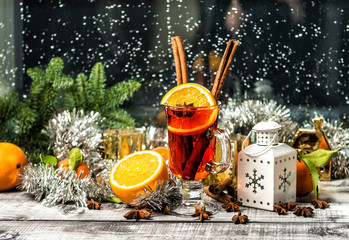 Mulled wine fruit spices Window decoration christmas ornaments