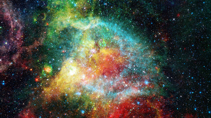 Abstract bright colorful universe. Elements of this image furnished by NASA.