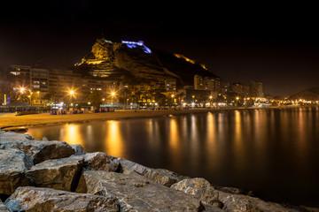 Hiszpania Costa Blanca Alicante nocą