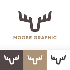 Moose deer antler graphic