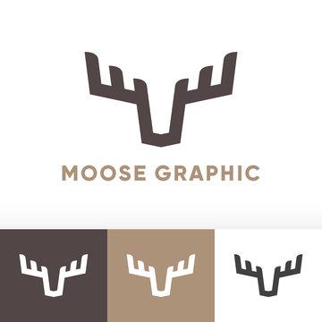 Moose deer antler graphic