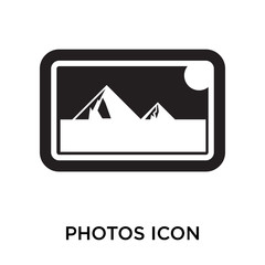 photos icons isolated on white background. Modern and editable photos icon. Simple icon vector illustration.