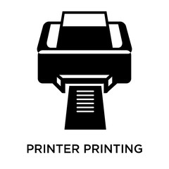 Printer printing squares icon vector sign and symbol isolated on