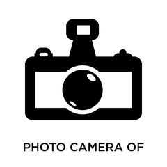 Photo camera of rounded square shape icon vector sign and symbol